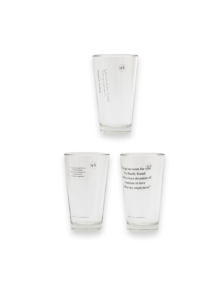 [homepage exclusive] LOVE glass (3type)